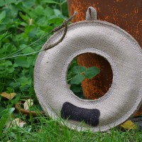 Hessian Donut - Dog Toy
