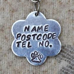 Flower Dog ID Tag