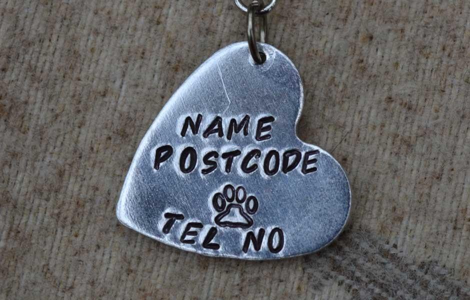Heart Dog ID Tag